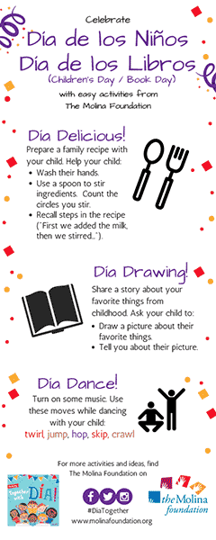 Dia Activities Bookmark
