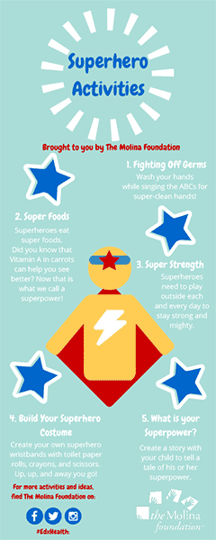 Superhero Activities Bookmark